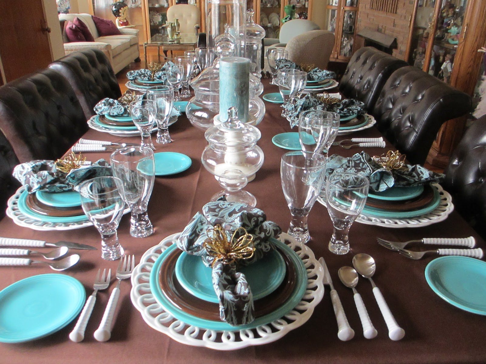 The Welcomed Guest: Chocolate and Turquoise Fiesta Table