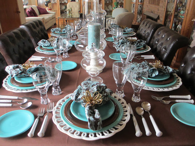 The Welcomed Guest Chocolate And Turquoise Fiesta Table
