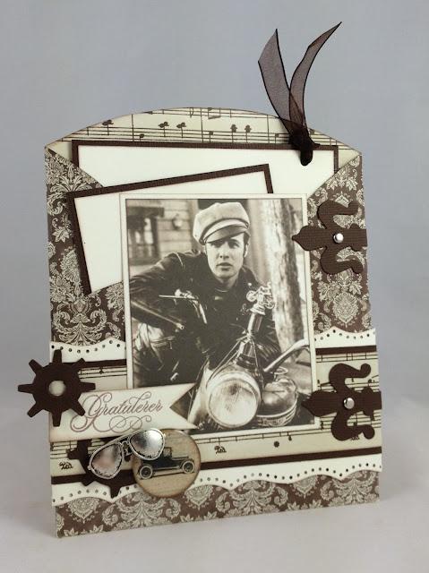 Sizzix dies Martha Stewart punch Vintagemotiv Brettekort Folding card