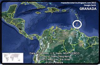 Mapa de GRANADA en Centroamérica, Google Earth