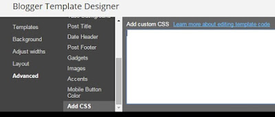add css to blogger template design