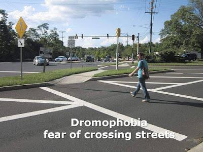Dromophobia, fear of crossing street