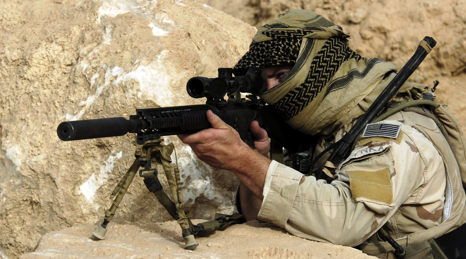 The Firing Line: Sniper War In Afghanistan M110 Sniper Rifle Suppressed