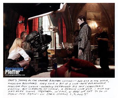Depp y Green en el rodaje de Dark Shadows