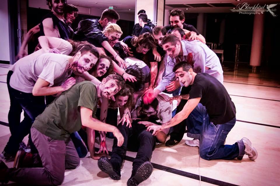 """Uno scatto dal backstage di """"Luna di Porpora"""""""