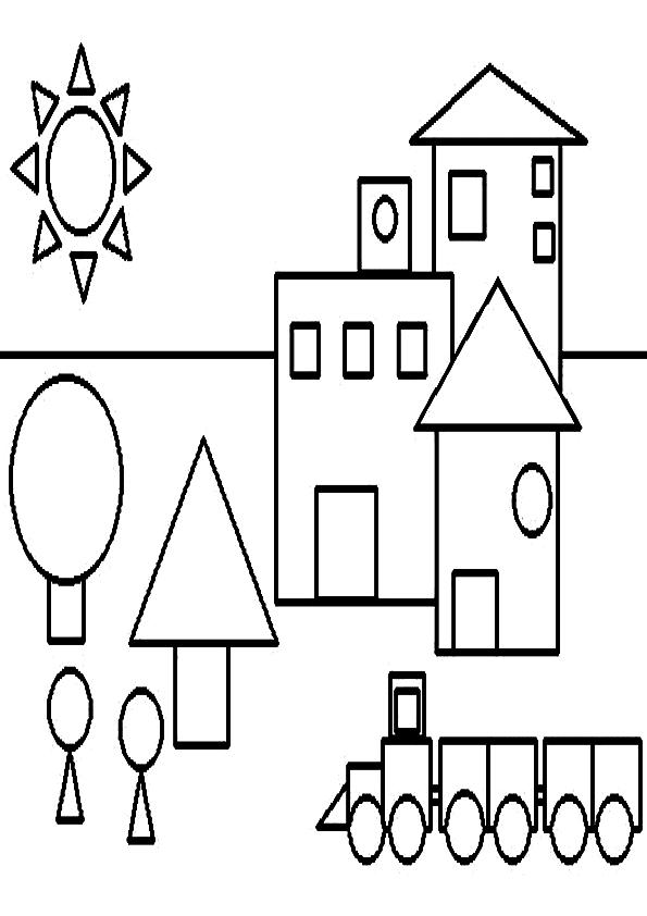 Dibujos de figuras geométricas para colorear - Imagui