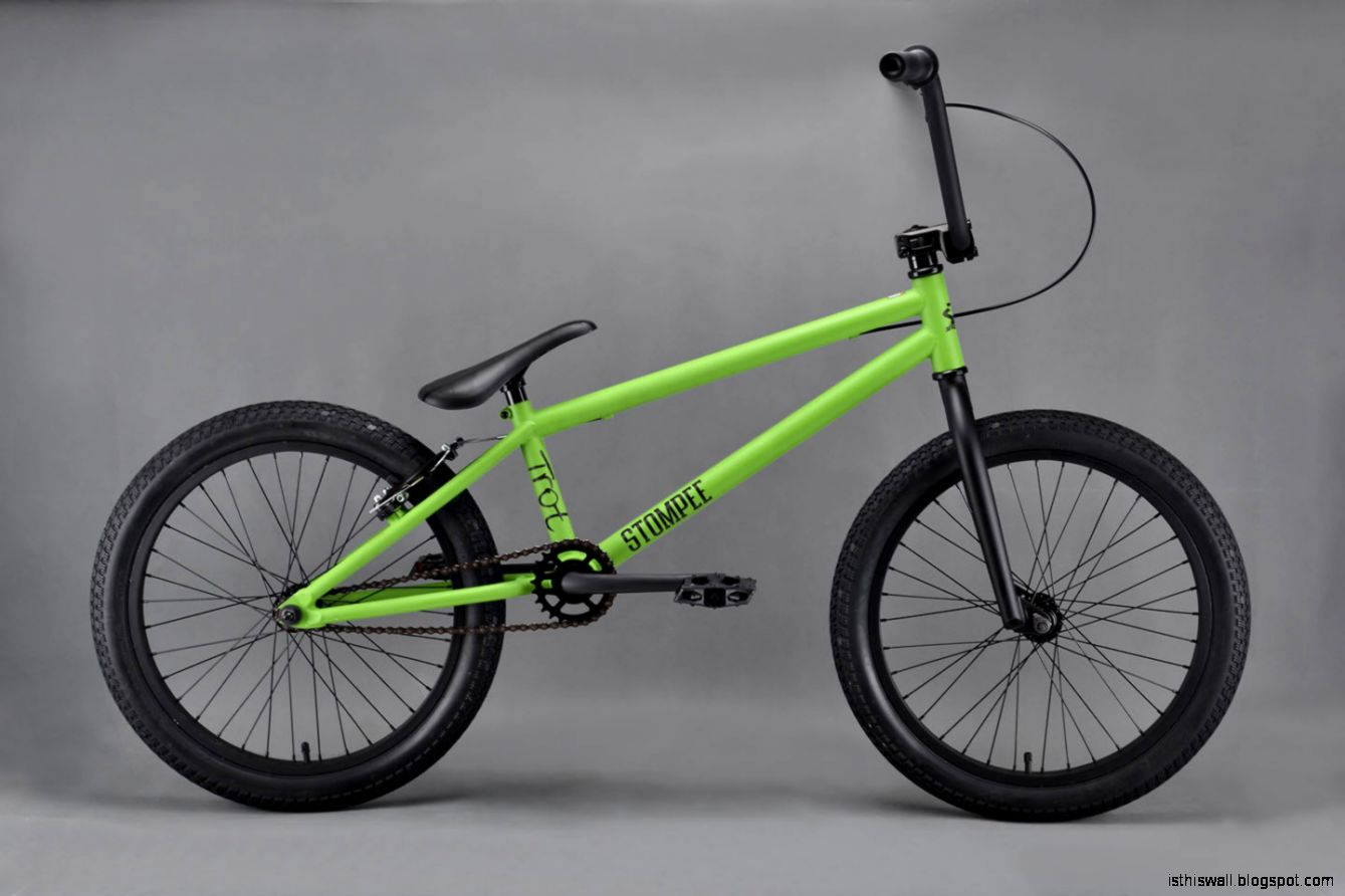 Blue and Green BMX Bike