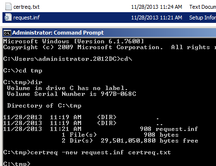 Vmware view certificates and thumbprints man in the middle issue next step is to generate the certificate request run certreq new requestf certreqtxt to generate the text file the text file is a bug bag of yelopaper Image collections