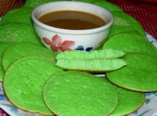 Resep Kue Serabi Kinca Sederhana Dengan Pandan