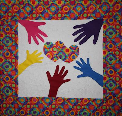 Hand Print Mini Quilt
