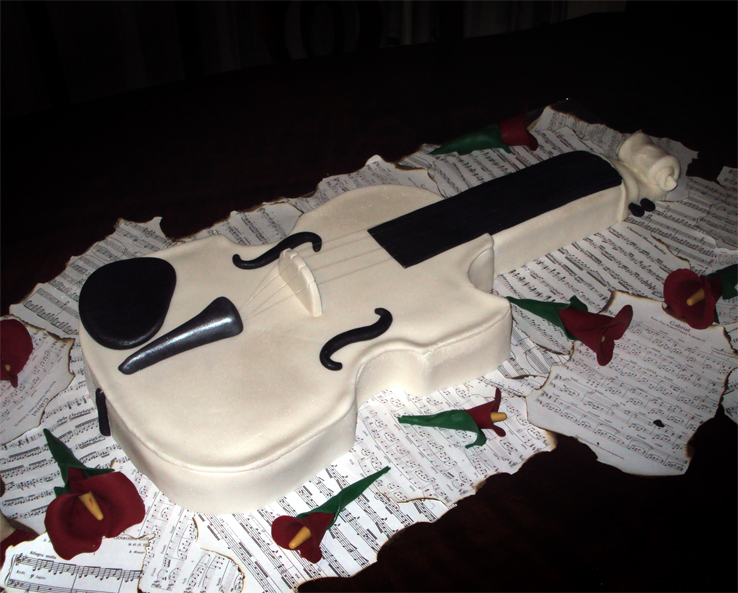 Violin and other cake ideas and designs for Violin decorating ideas