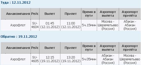 Авиабилеты из новосибирска в москва цена