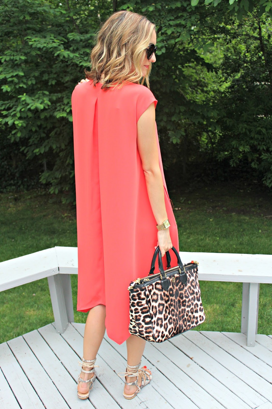 large pleated rachel roy dress