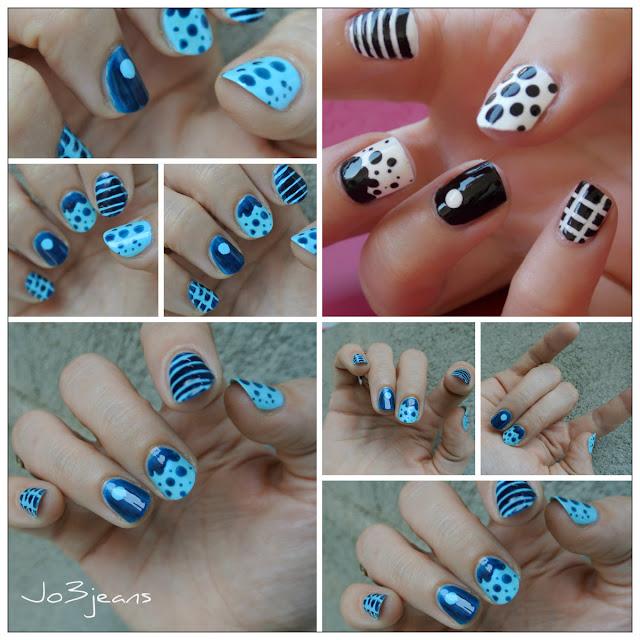 nail art, anniversaire, inspiration Psychosexy, blopine, sa race comme elle est trop coule cette nana, bisous Magalie, nail art bleu,
