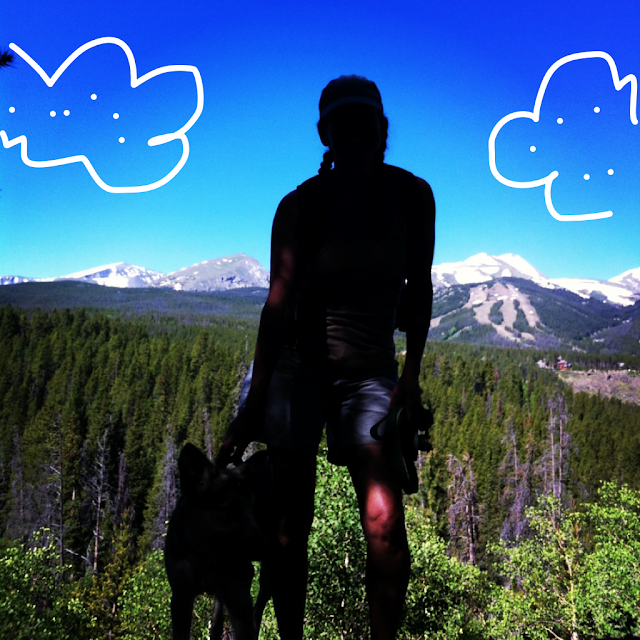 doodle photo - mountain and clouds