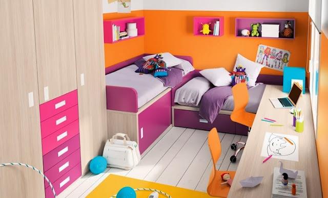 Dormitorio infantil en espacio peque os como decorar for Cuartos para ninas pequenos