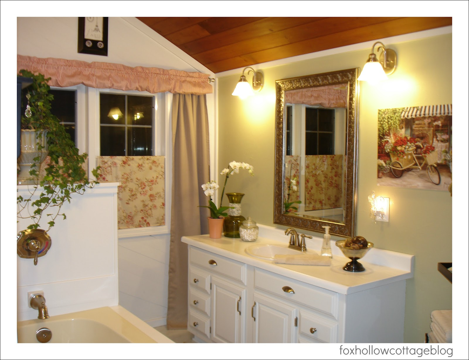 A Super Budget Bathroom Makeover Fox Hollow Cottage - Country bathroom makeovers