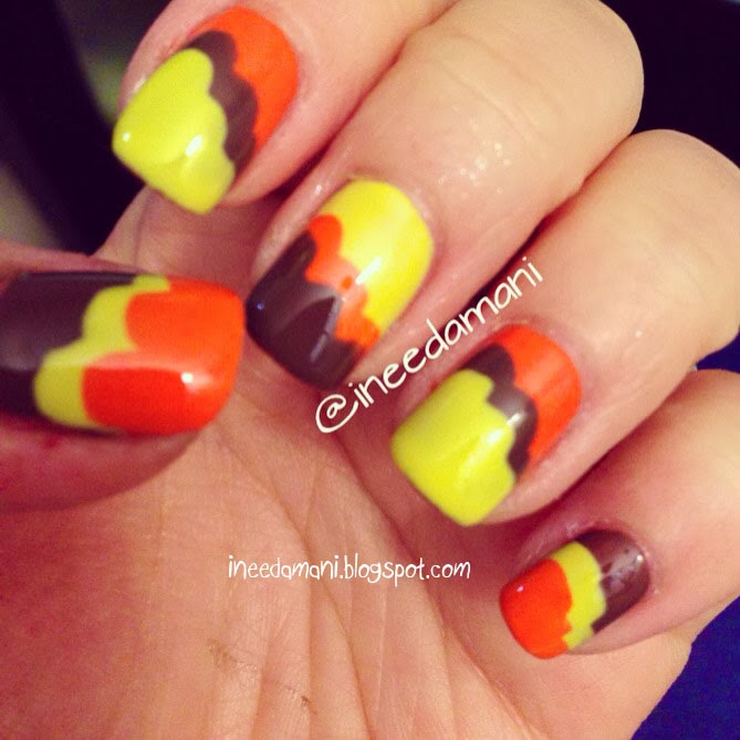 fall scalloped nails