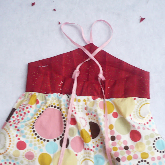 sewing strawberry vanilla dress