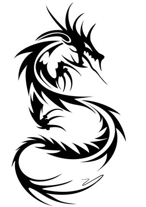 Tribal Tattoos on Dragon Tribal Tattoo Design   Tattoo Picture  Photos And Design