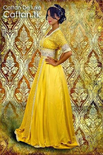 Caftan-marocain-jaune-chic-sublime-2014