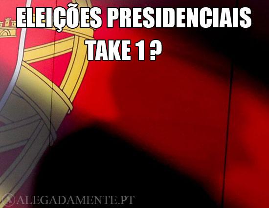Imagem da Bandeira Portuguesa – Eleições Presidenciais – Take 1