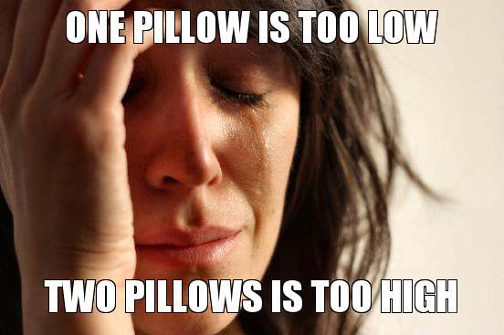First World Problem On The Bed