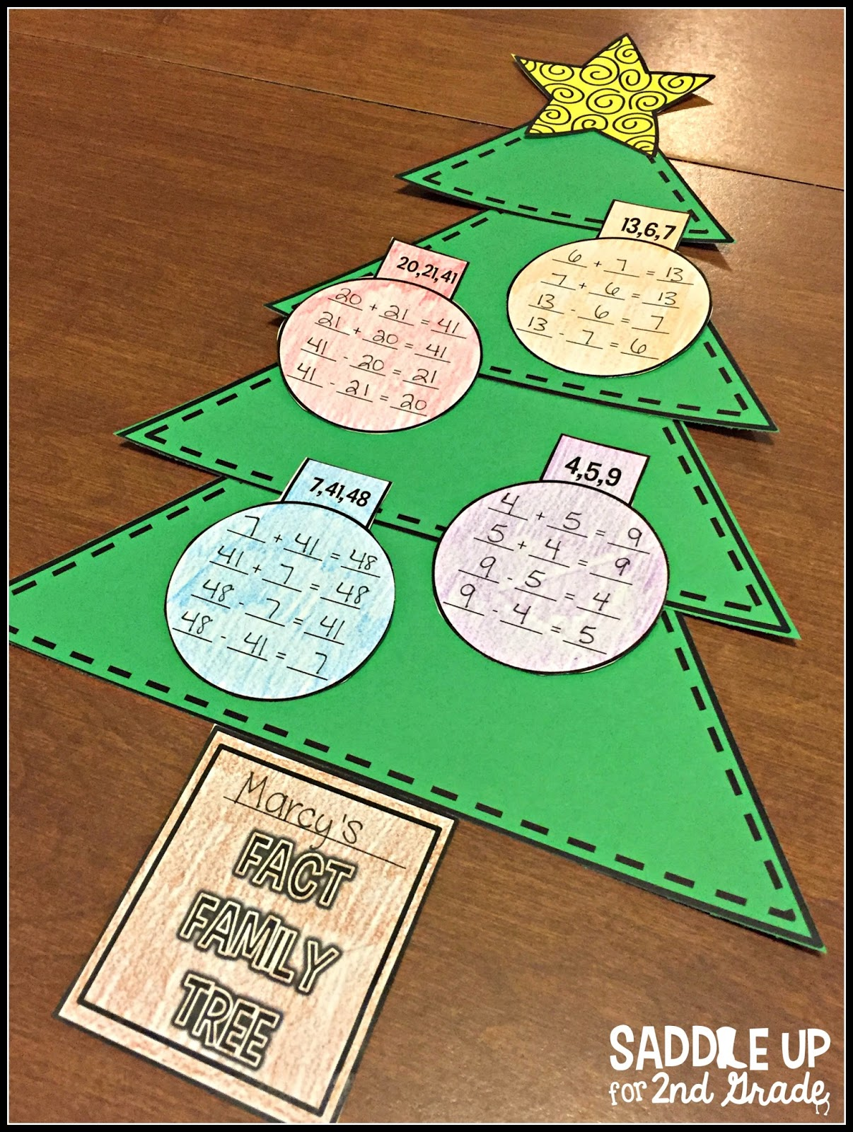 Fact Family Christmas Trees and Reindeer Shapes FREEBIE - Saddle ...