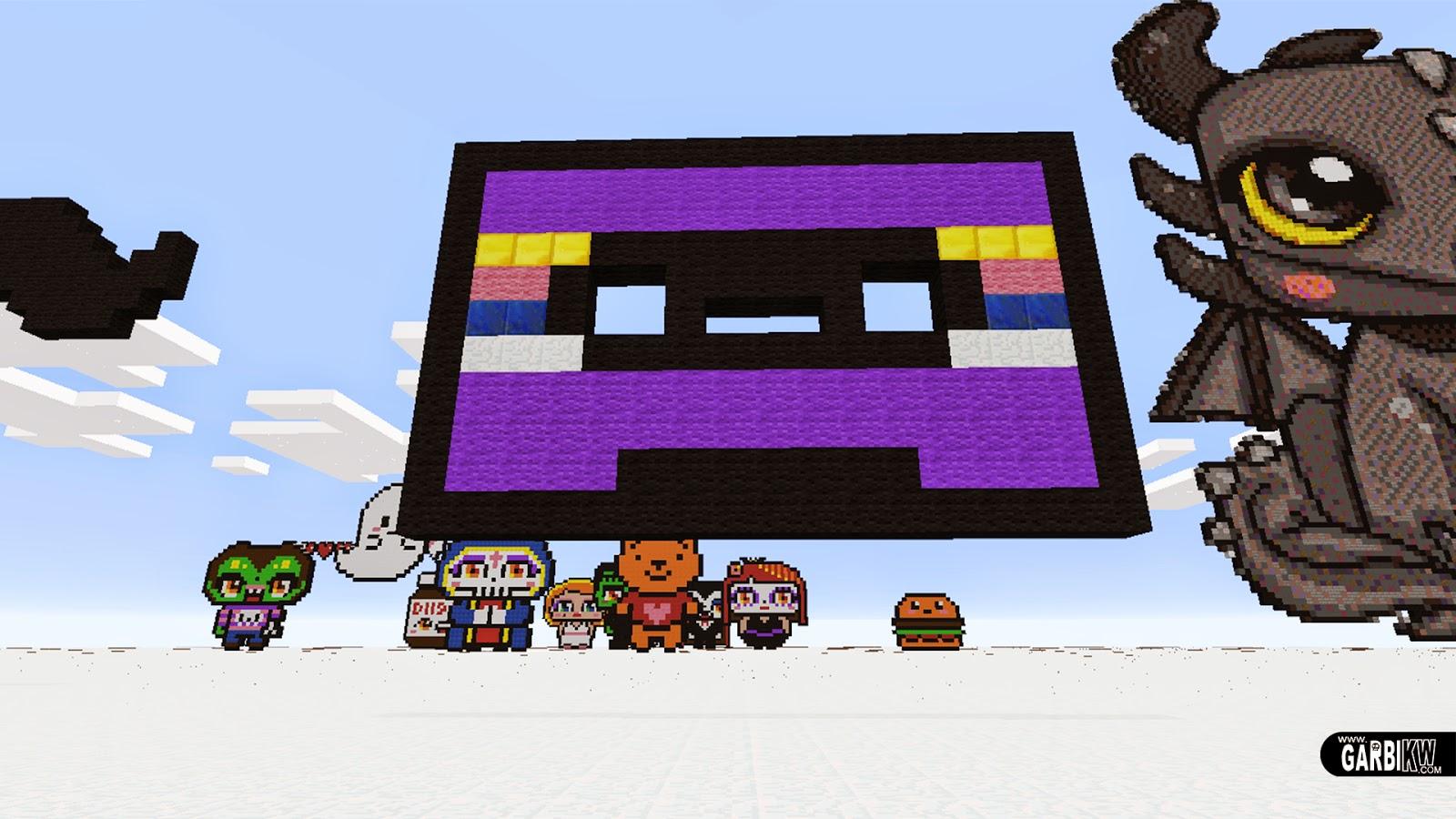 Minecraft Pixel Art   How To Make A Cassette By Garbi KW