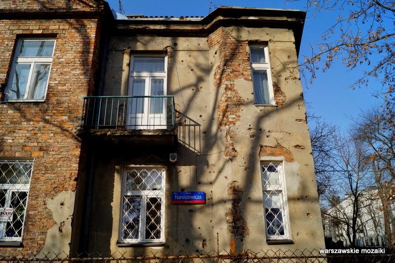 Warszawa Mokotów Wierzbno willa Wróblewskich ślady po kulach ślady po pociskach kamienica dom