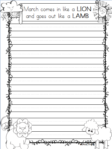 spring writing paper Free, printable lined writing paper for kids over 1,500 ela worksheet lesson activities for class or home use click to get started.