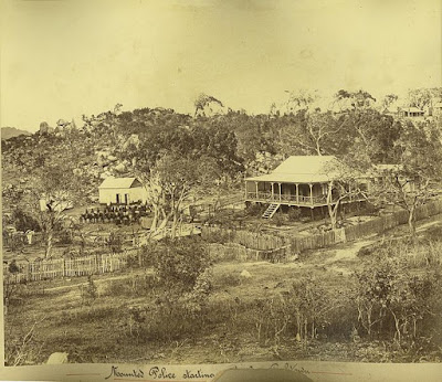 1878 image of police station Cooktown
