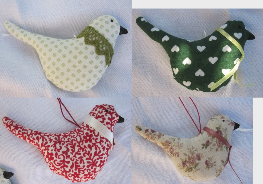 Décoration de Noël Tilda les oiseaux
