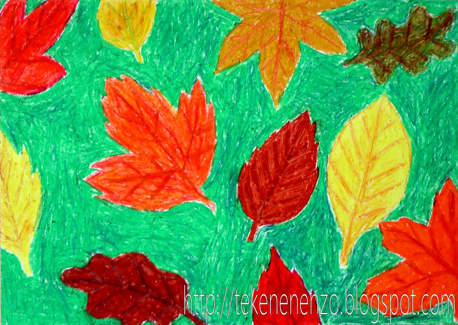 Leaves For Kids Drawing