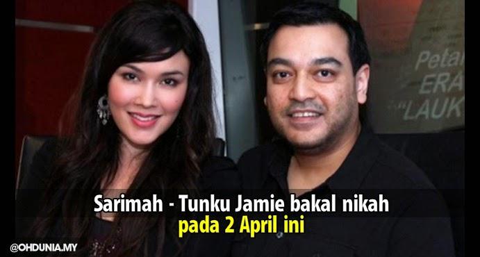 Sarimah Ibrahim bakal bernikah dengan Tunku Jamie pada 2 April ini.