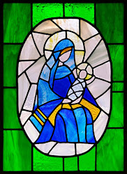 Click below for a Christmas Stained Glass Window Post!