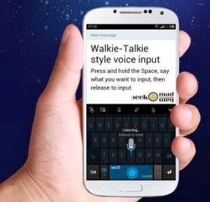 Voice to text: Walkie-Talkie style text input