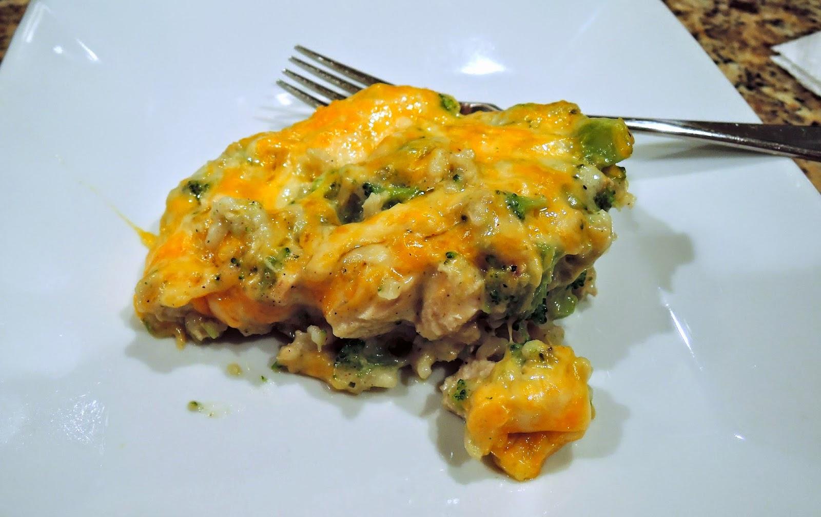 Cheesy Chicken Broccoli Rice Casserole