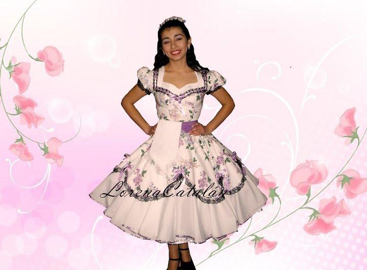 Vestido huasa elegante