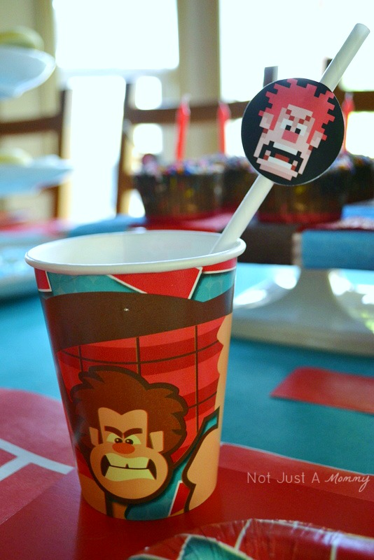 Birthday Express Wreck It Ralph movie party paper straws