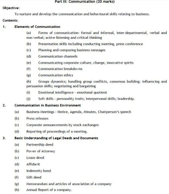 CA IPC PAPER 2 SYLLABUS  BUSINESS LAWS  ETHICS COMMUNICATION
