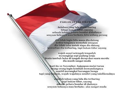 Puisi Kemerdekaan Indonesia Tema Pahlawan