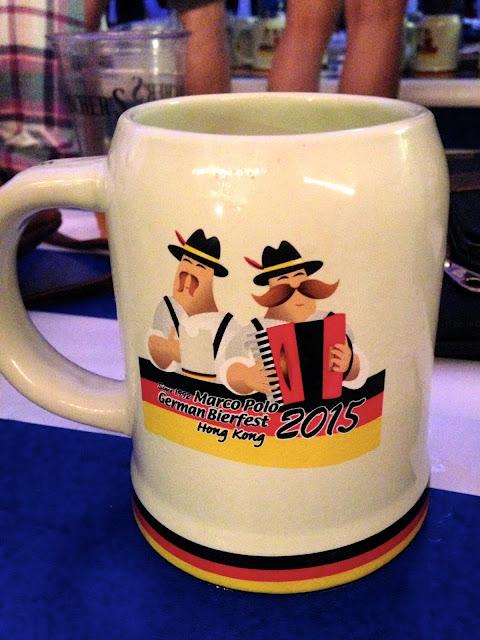 Souvenir beer mug (stein) from Marco Polo German Bierfest, TST, Hong Kong on Halloween