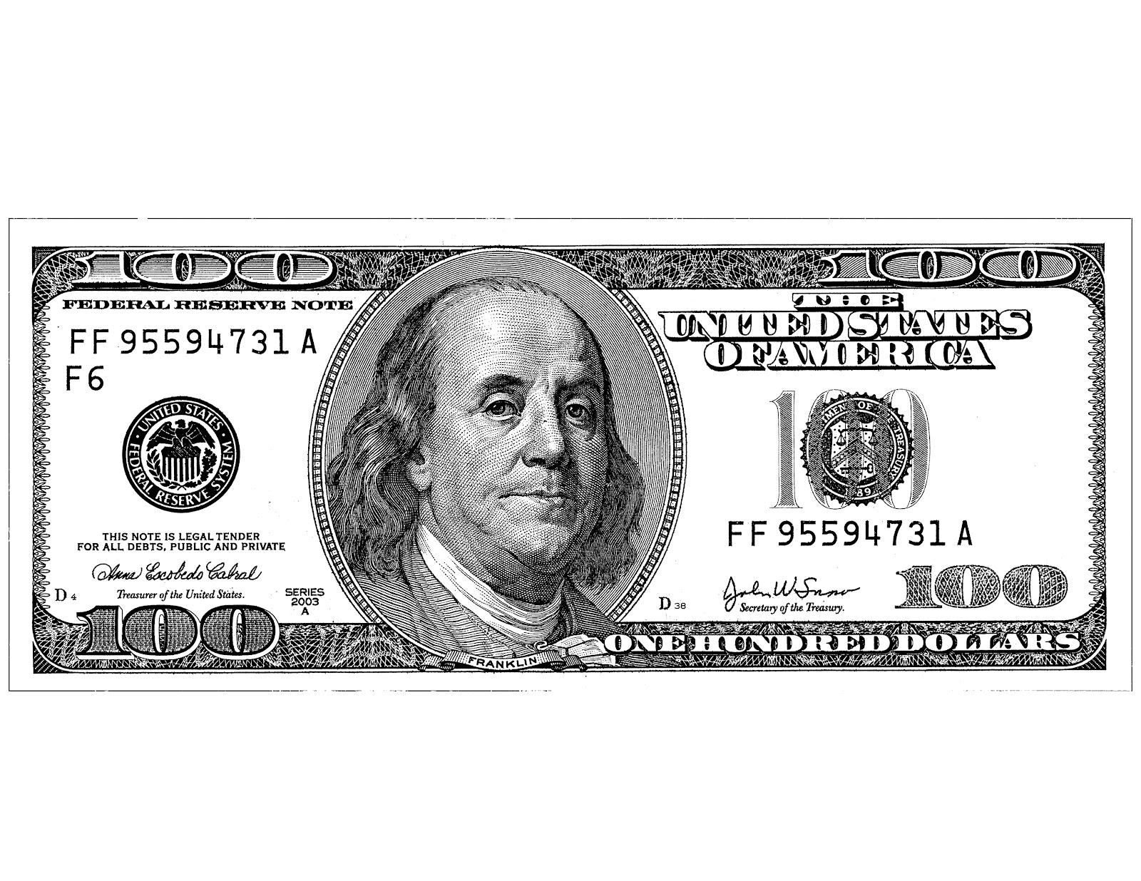 100 Dollar Bill Clip Art Black And White Nini d'amour: juillet 2012