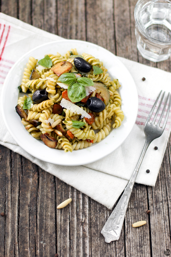 Fresh Basil Pesto and Vegetable Pasta