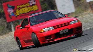 Red Nissan Car