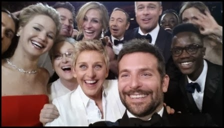 Foto viral de Ellen Degeneres en los Oscar (Twitter)