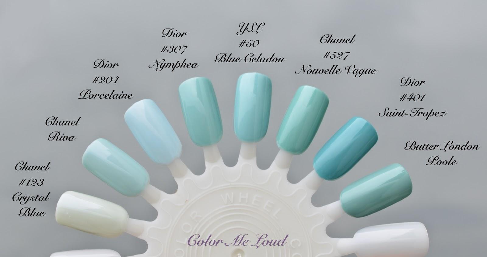 yves saint laurent la laque couture 50 bleu celadon 51 bleu cyclades for bleus lumiere summer. Black Bedroom Furniture Sets. Home Design Ideas