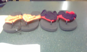 CUSTOM MADE FLIP FLOPS AND PURSES