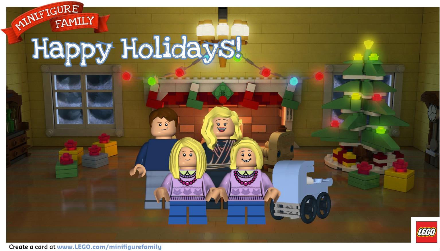 do it yourself divas: LEGO Holiday Christmas Card review